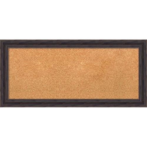 Rustic Pine, 33 x 15 In. Framed Cork Board
