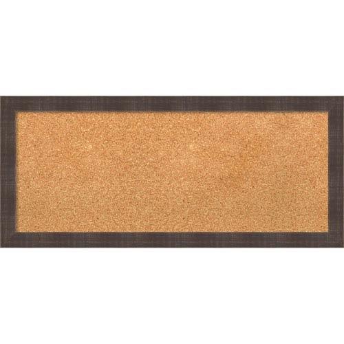 Whiskey Brown Rustic, 32 x 14 In. Framed Cork Board