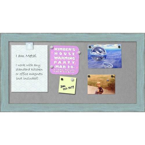 Sky Blue Rustic, 27 x 15 In. Framed Magnetic Board