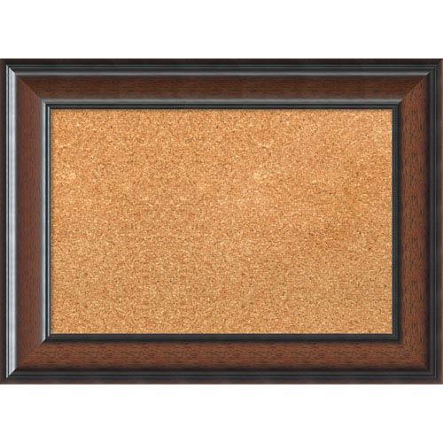 Cyprus Walnut, 23 x 17 In. Framed Cork Board