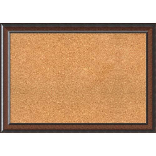 Cyprus Walnut, 41 x 29 In. Framed Cork Board