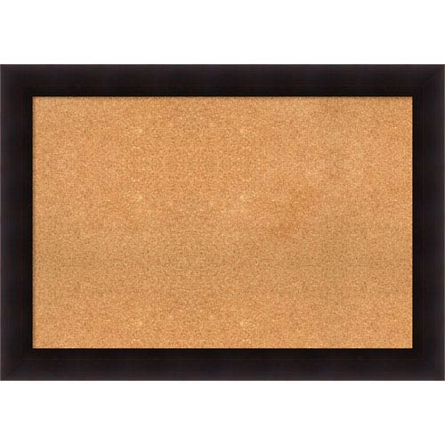 Portico Espresso, 42 x 30 In. Framed Cork Board