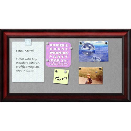 Rubino Cherry Scoop, 27 x 15 In. Framed Magnetic Board