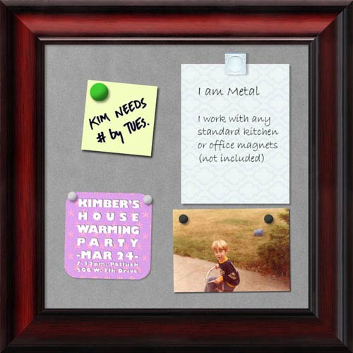 Rubino Cherry Scoop, 15 x 15 In. Framed Magnetic Board