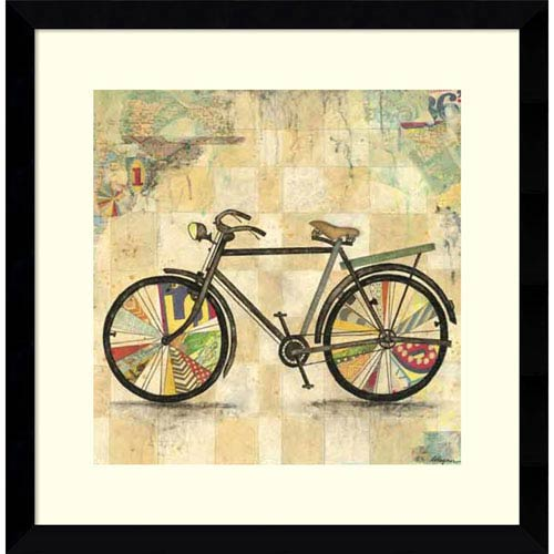 Ride 2 (Bike) by Wagner Jennifer, 17 x 17 In. Framed Art Print
