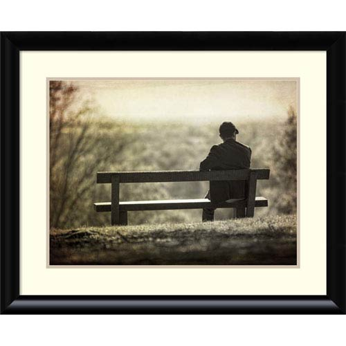 Amanti Art Contemplation by Joe Reynolds, 33 x 27 In. Framed Art Print