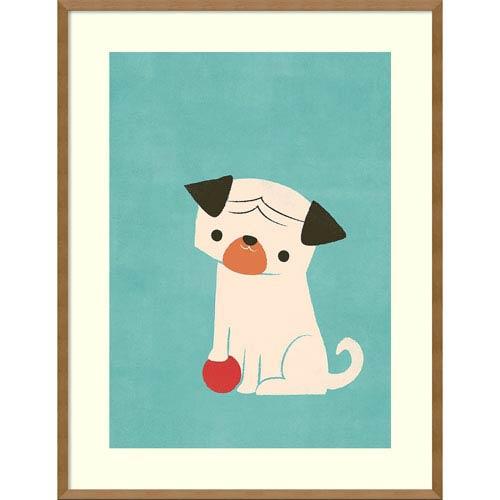 My Red Ball (Pug) by Jay Fleck, 27 x 35 In. Framed Art Print