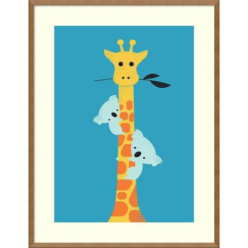 Ill Be Your Tree (Giraffe) by Jay Fleck, 27 x 35 In. Framed Art Print