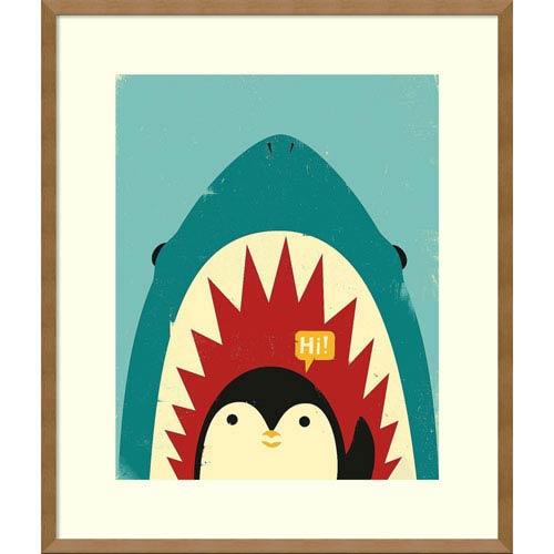 Hi! (Penguin) by Jay Fleck, 23 x 27 In. Framed Art Print