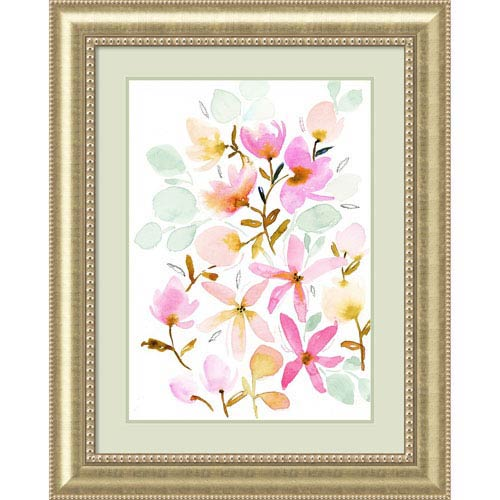Dreams in Pastel (Floral) by Joy Ting, 33 x 41 In. Framed Art Print