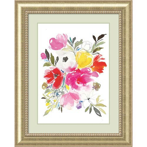 Pink Expression (Floral) by Joy Ting, 33 x 41 In. Framed Art Print