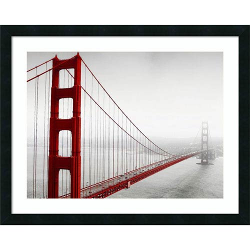 Amanti Art In259_2 (Golden Gate) by PhotoINC Studio, 30 x 24 In. Framed Art Print