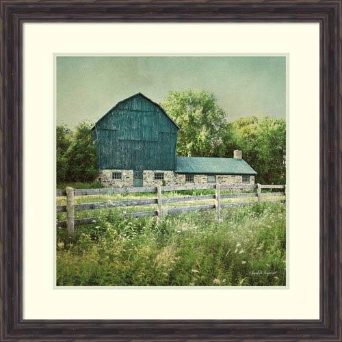 Blissful Country III (Barn) by Elizabeth Urquhart, 29 x 29 In. Framed Art Print