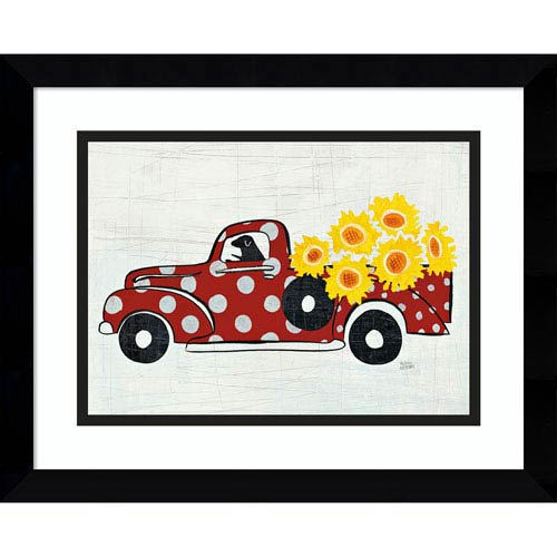 Modern Americana Farm Vi Truck By Melissa Averinos 15 X 12 In Framed Art Print