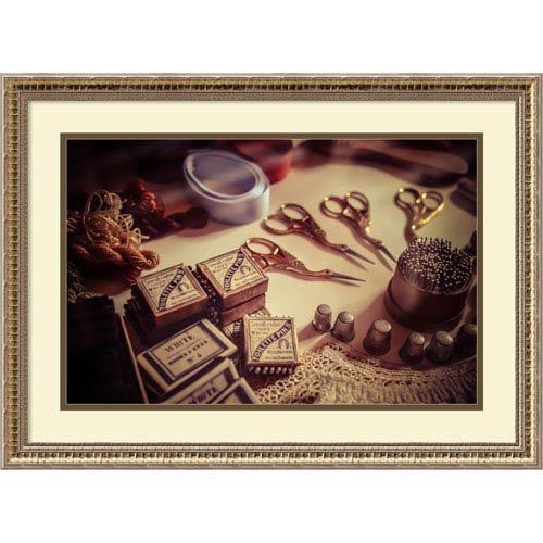 Amanti Art Old World Sewing by Matt Marten, 26 x 19 In. Framed Art Print