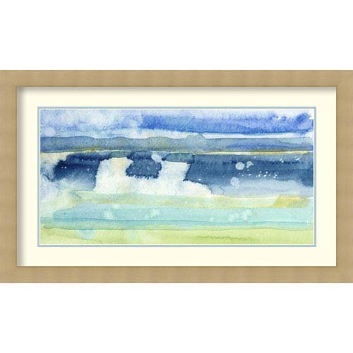 Amanti Art Gulf Shore I by Alicia Ludwig, 38 In. x 23 In. Framed Art