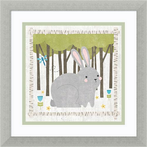 Woodland Hideaway Bunny by Moira Hershey, 13 x 13 In. Framed Art Print