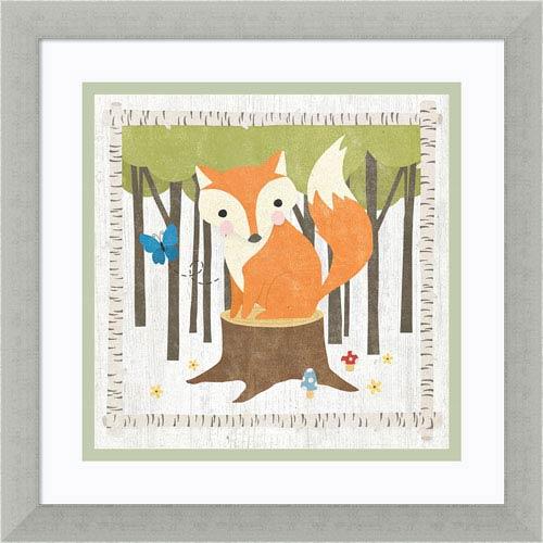 Woodland Hideaway Fox by Moira Hershey, 13 x 13 In. Framed Art Print