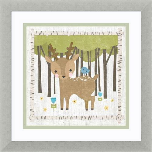 Woodland Hideaway Deer by Moira Hershey, 13 x 13 In. Framed Art Print