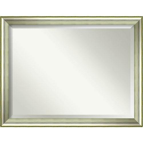 Amanti Art Vegas Curved Silver 45 x 35 In. Wall Mirror
