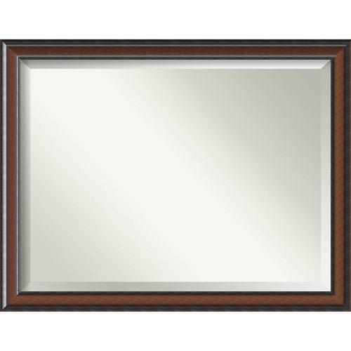 Cyprus Walnut 45 x 35 In. Wall Mirror
