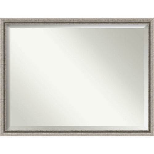 Amanti Art Bel Volto Silver 43 x 33 In. Wall Mirror