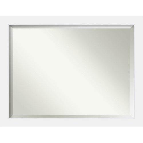 Amanti Art Corvino White 45 x 35 In. Wall Mirror