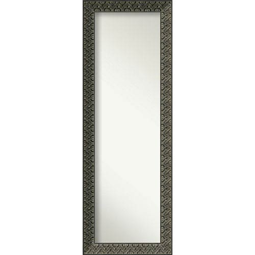 Intaglio Embossed Black 18 x 52 In. Wall Mirror
