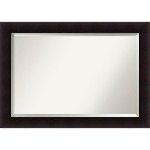Portico Espresso 42 x 30 In. Bathroom Mirror