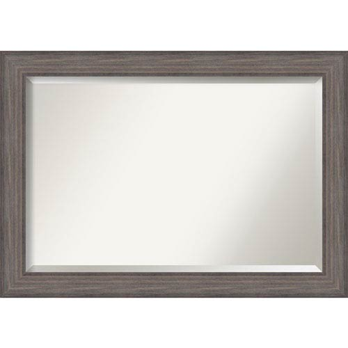 Amanti Art Country Barnwood 41.5 x 29.5 In. Bathroom Mirror