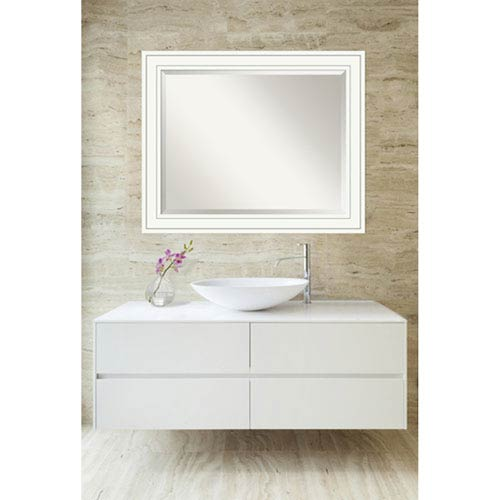 Craftsman White 33 x 27 In. Bathroom Mirror