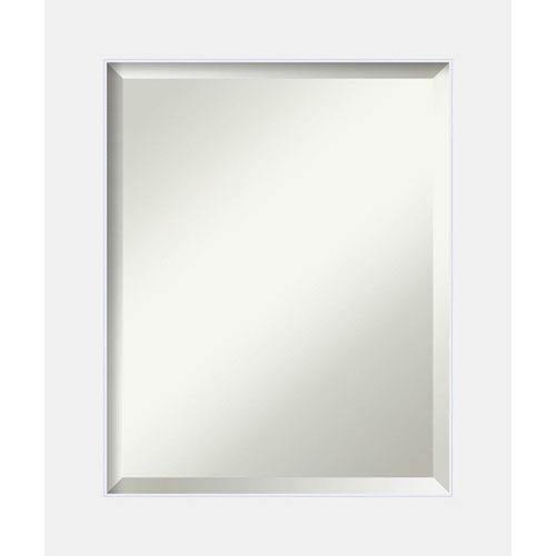 Amanti Art Corvino White 21 x 25 In. Bathroom Mirror