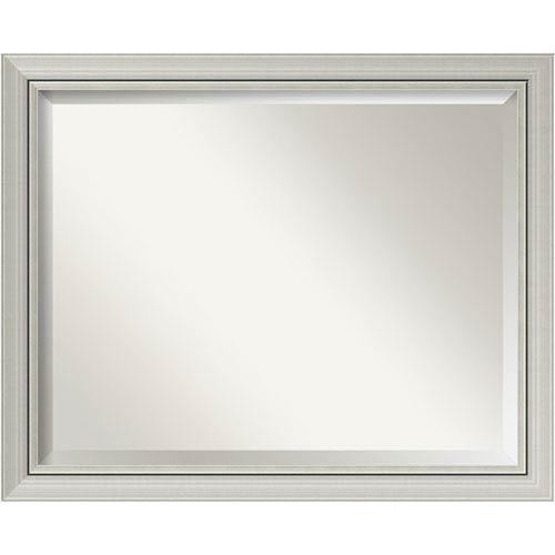 Amanti Art Romano Narrow Silver X In Bathroom Mirror - Narrow bathroom mirror