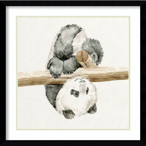 Baby Panda II by Melissa Wang, 23 In. x 23 In. Framed Art