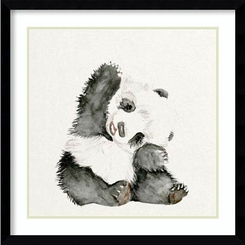 Baby Panda I by Melissa Wang, 23 In. x 23 In. Framed Art