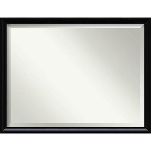 Steinway Black Scoop 33 x 43 In. Wall Mirror