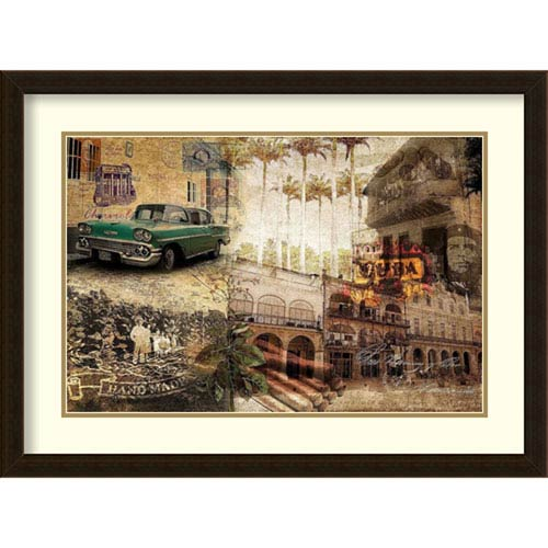 Amanti Art Cuba by Graphinc, 31 In. x 23 In. Framed Art