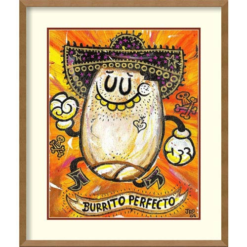 Amanti Art Burrito Perfecto by Jorge R. Gutierrez, 22 In. x 26 In. Framed Art