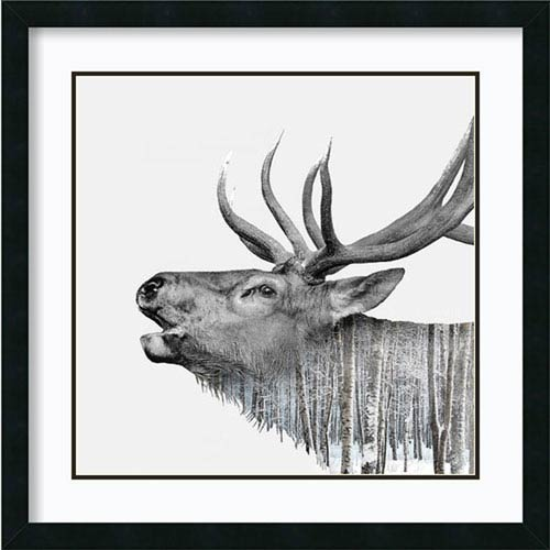 Amanti Art Deer by Clean Nature, 27 In. x 27 In. Framed Art