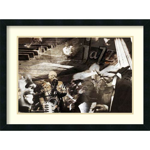 Amanti Art Jazz by Graphinc, 31 In. x 23 In. Framed Art