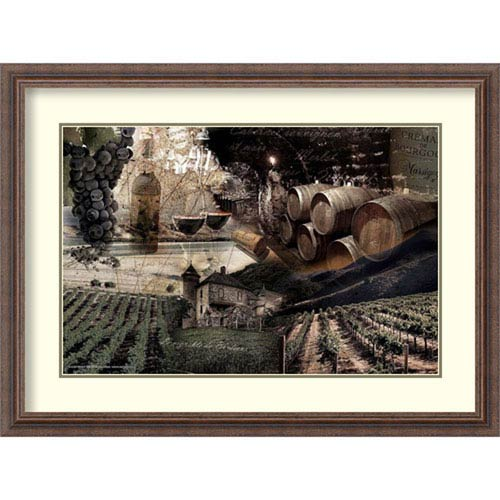 Amanti Art Wine by Graphinc, 32 In. x 24 In. Framed Art