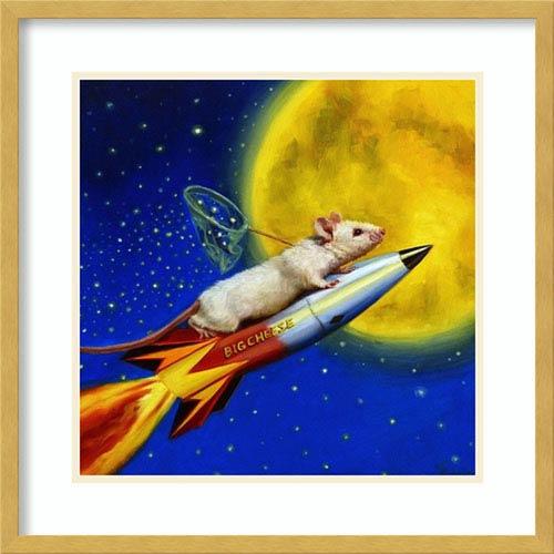 Dream Catcher by Lucia Heffernan, 22 In. x 22 In. Framed Art