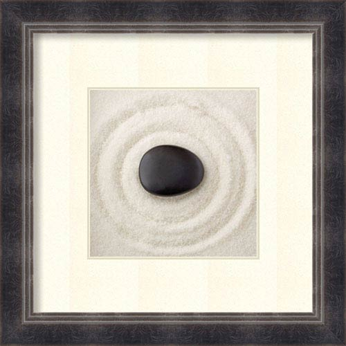 Amanti Art Zen Pebble by PhotoINC Studio, 33 In. x 33 In. Framed Art