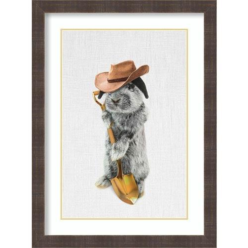 Rabbit Farmer by Tai Prints, 24 In. x 32 In. Framed Art