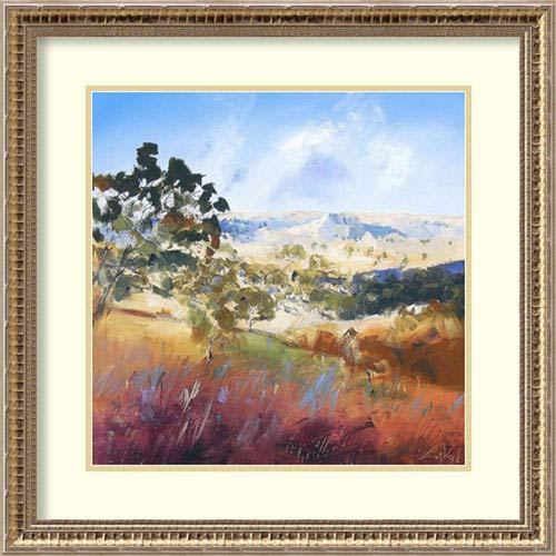 Amanti Art King Valley by Craig Trewin Penny, 24 In. x 24 In. Framed Art