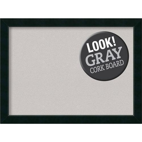 Amanti Art Corvino Black, 31 In. x 23 In. Grey Cork Board