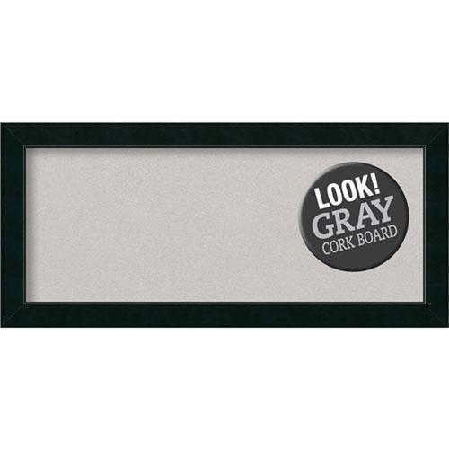 Amanti Art Corvino Black, 33 In. x 15 In. Grey Cork Board