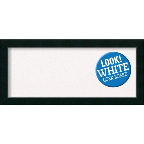 Amanti Art Corvino Black, 33 In. x 15 In. White Cork Board