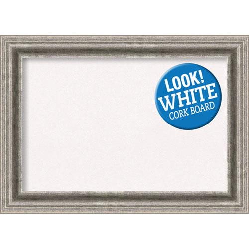 Amanti Art Bel Volto Silver, 21 In. x 15 In. White Cork Board