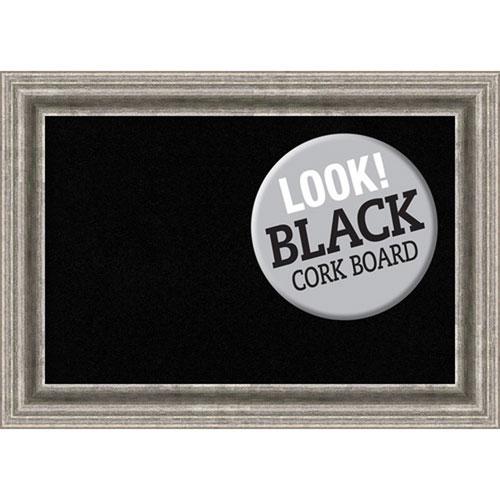 Bel Volto Silver, 21 In. x 15 In. Black Cork Board